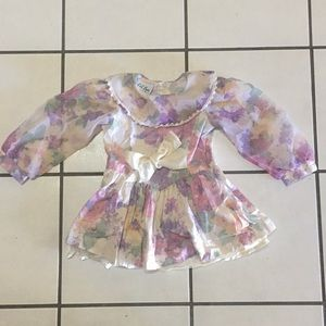 Lil Byer Sweet Floral Formal Dress Size 3T